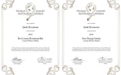Certyfikaty World Luxury Restaurant Awards 2017