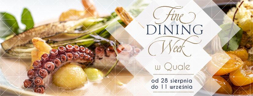 Fine Dining Week w Quale - widoczne potrawy serwowane w restauracji Quale